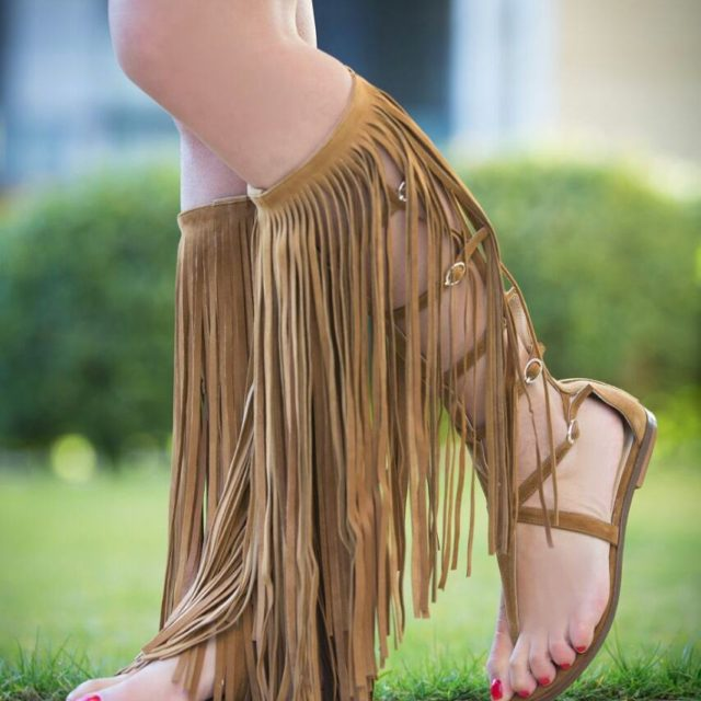 Everybody needs these in their closet summer 2017 fringed flathellip